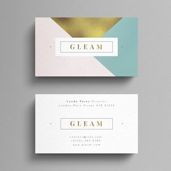 Bright luxury business card
