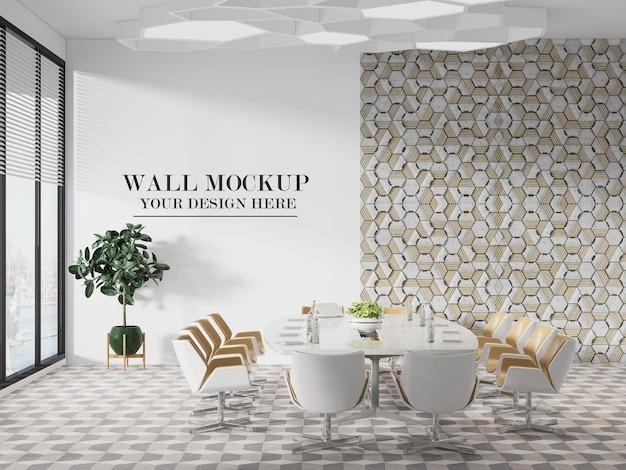 밝고 현대적인 회의실 벽 템플릿