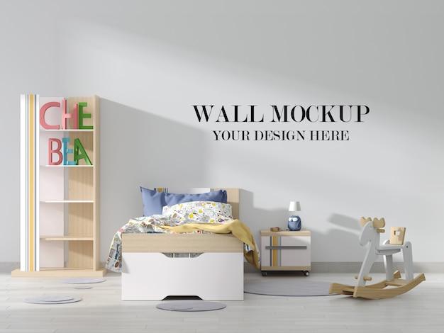 Яркий макет стены детской комнаты