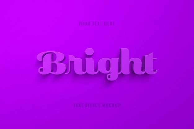 Ярко-фиолетовый текстовый эффект 3d-скрипта