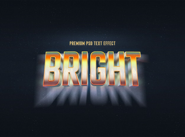Bright text effect template