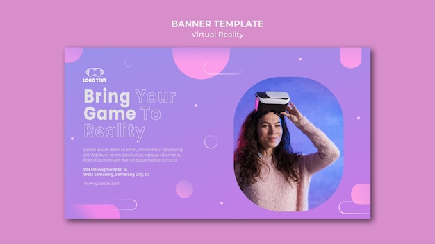 Bring your game into virtual reality banner template
