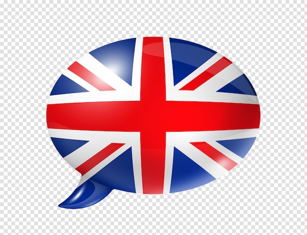 British flag speech bubble