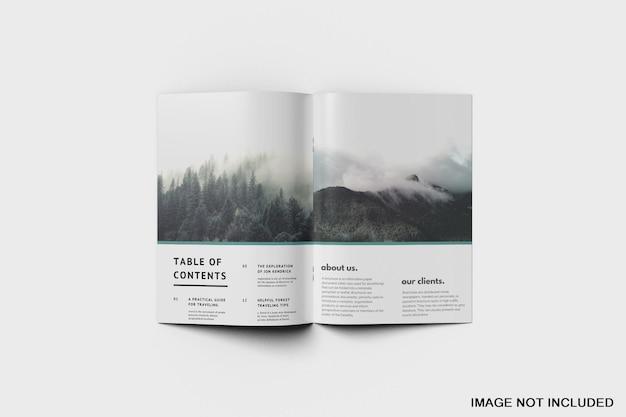パンフレットとカタログのモックアップ