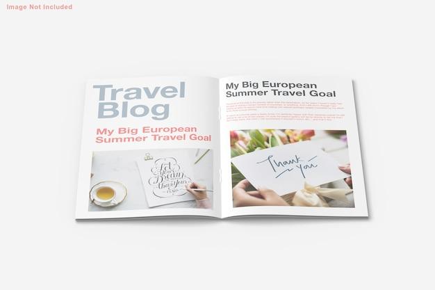 パンフレットと雑誌のモックアップデザイン