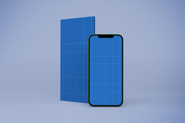 パンフレットとスマートフォンのモックアップ