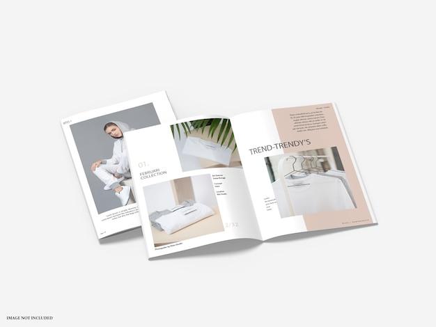 Brochure catalog mockups isolated