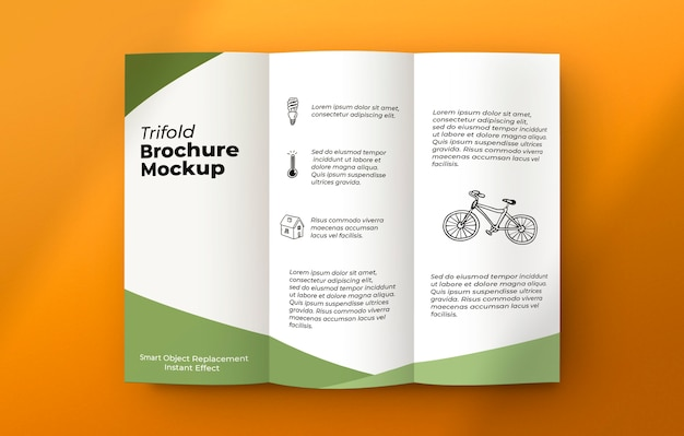 Brochure on grey surface mockup