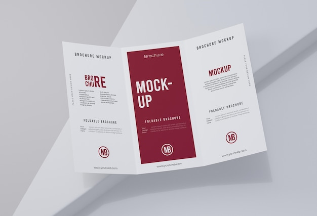 Brochure mock-up isolated on white