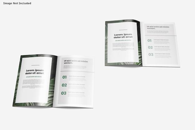 Brochure mockup design isolated