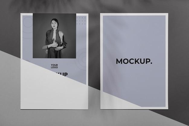 Sovrapposizione dell'ombra dell'opuscolo mock up