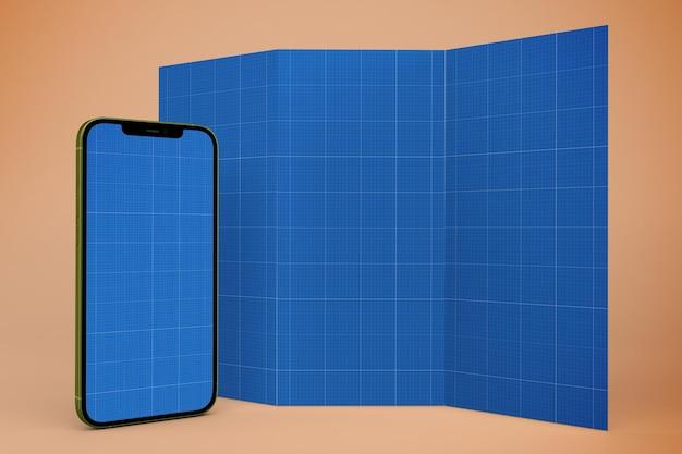 Brochure and smartphone mockup