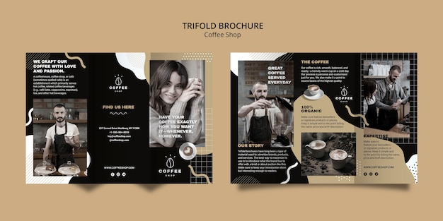 Brochure template for coffee shop