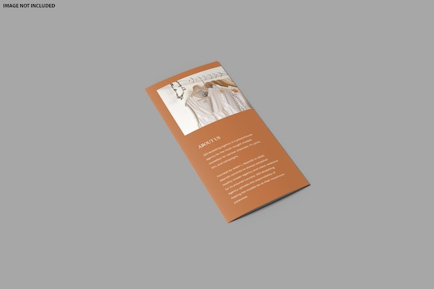 パンフレットの三つ折りモックアップデザインが分離されました