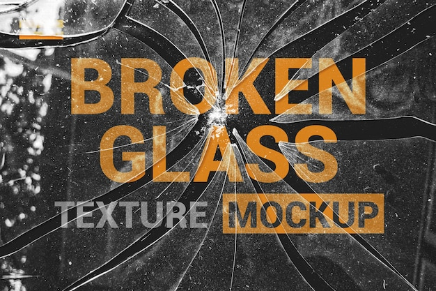 Brocken glass effects mockup