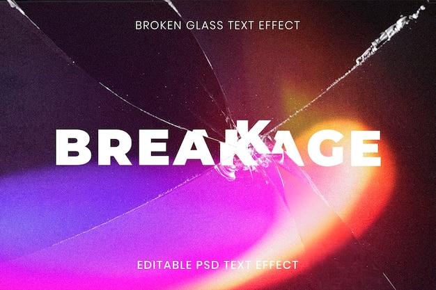 Разбитое стекло фотоэффект psd