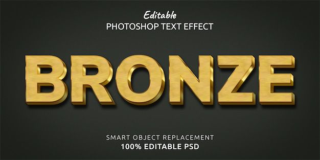 Bronze text style effect