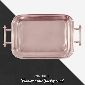 Bronze tray on transparent background