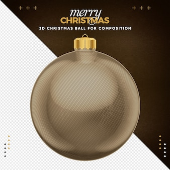 Brown christmas ball  for composition
