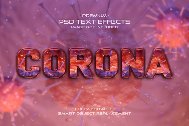Brown corona virus text style effect