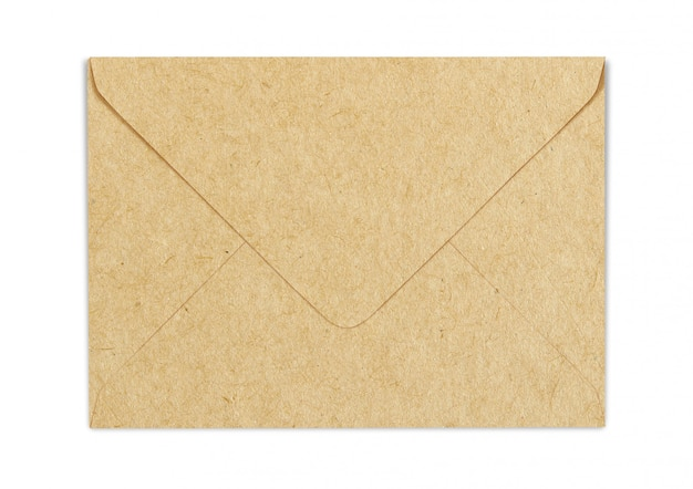 Brown craft paper envelope mock-up