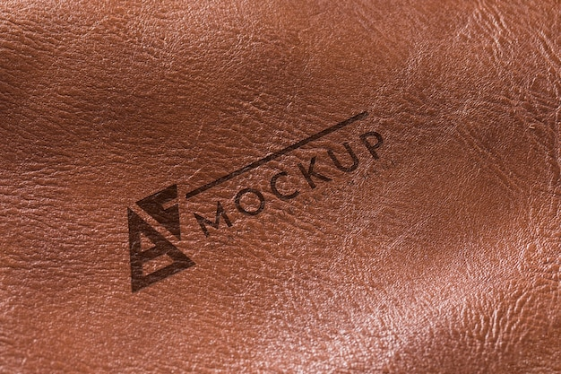 Brown leather surface