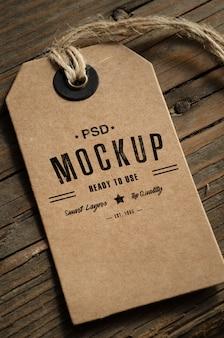 Brown paper price tag mockup