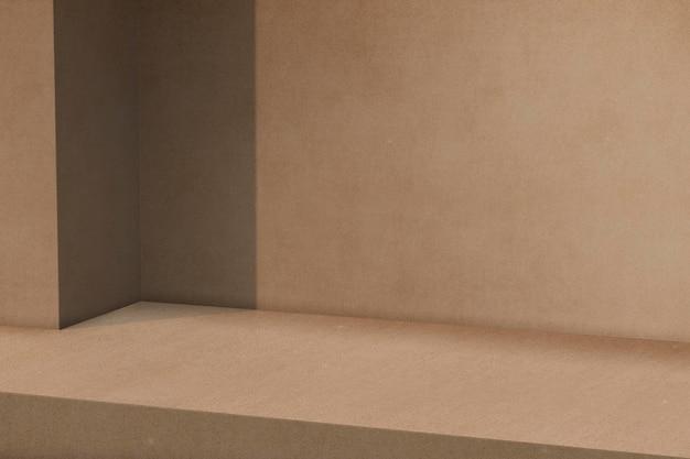 Modello di sfondo prodotto marrone psd
