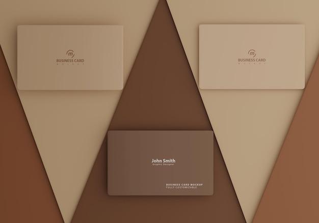 갈색 간단한 명함 모형