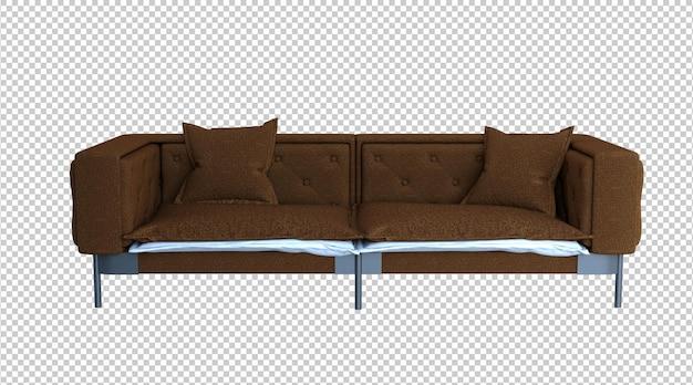 갈색 소파 3d 렌더링
