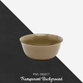 Brown soup plate on transparent background