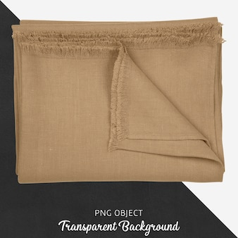 Brown tablecloth textile on transparent background