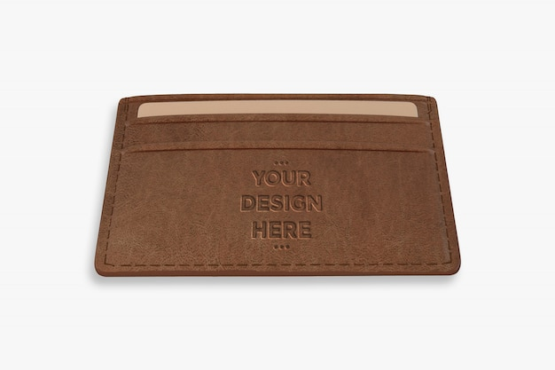 Brown wallet mockup template