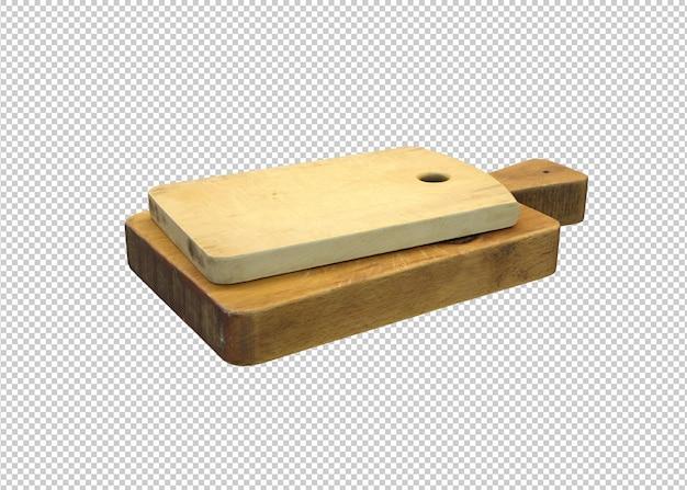 茶色の木製まな板