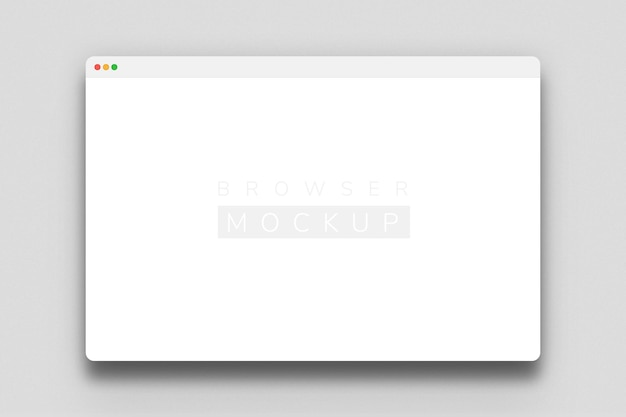 Browser screen mockup design rendering