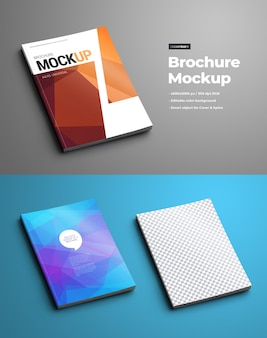 Bruchure mockups (catalogs or booklets). the template is universal  for a4 and a5 formats