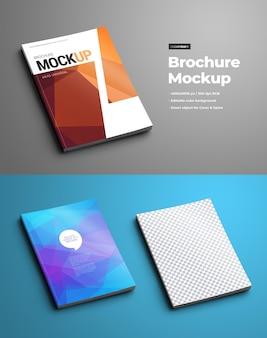 パンフレットモックアップ(カタログまたは小冊子)。テンプレートはa4およびa5フォーマットに共通です