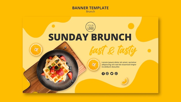 Design di banner per il brunch