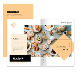 Brunch bifold brochure template