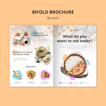 Brunch brochure template concept