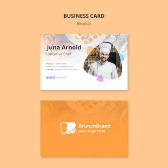 Brunch business card template concept
