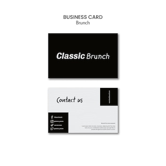 Brunch concept business card template
