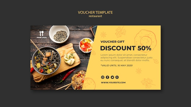 Brunch concept voucher template