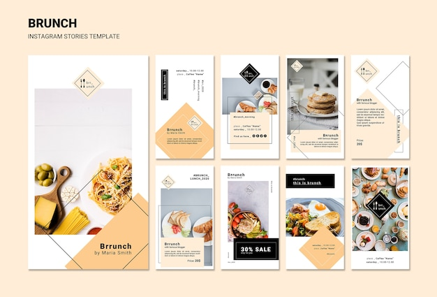 Brunch instagram stories template