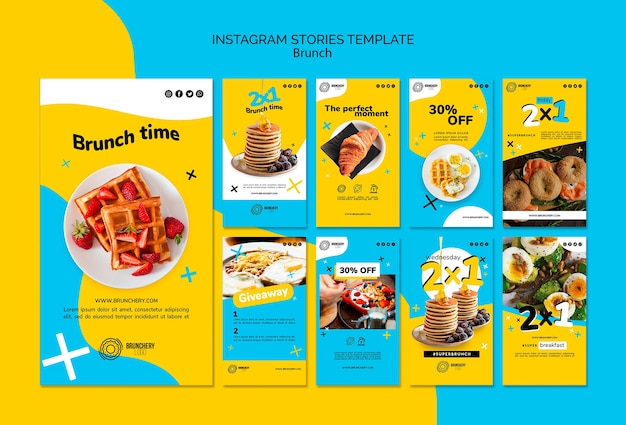 Modello di storie instagram di brunch