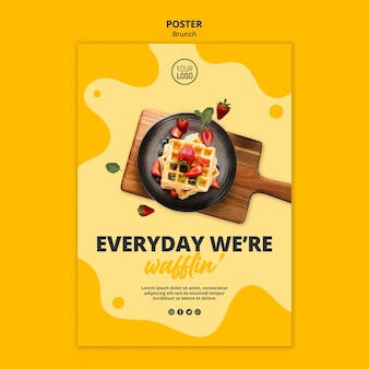 Brunch poster template