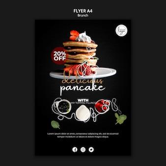 Brunch restaurant design flyer template
