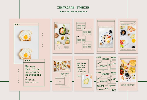 Brunch restaurant instagram stories template