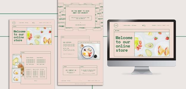 브런치 레스토랑 웹 페이지 템플릿