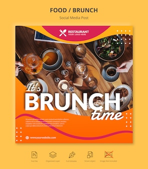 Brunch social media instagram post template